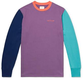 Leon Aimé Dore Logo-Embroidered Colour-Block Cotton-Jersey T-Shirt