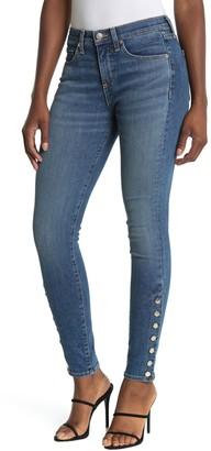 Veronica Beard Brooke Button Cuff Skinny Jeans