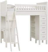 Pottery Barn Kids Camp Bunk System without Twin Bed, Simply White