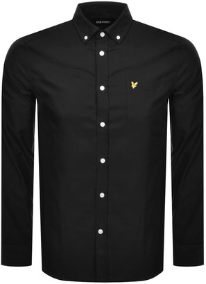 Lyle & Scott Oxford Long Sleeve Shirt Black