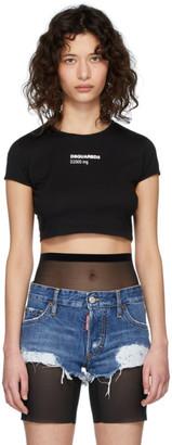 DSQUARED2 Black Bella Fit Crop T-Shirt