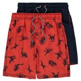 George 2 Pack Assorted Swim Shorts