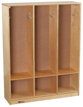 Child Craft Childcraft 3 Section Preschool Cubby Locker Childcraft