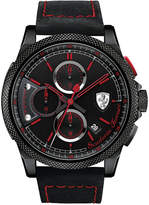 Ferrari Scuderia Men's Chronograph Formula Italia S Black Leather Strap Watch 46mm 830273