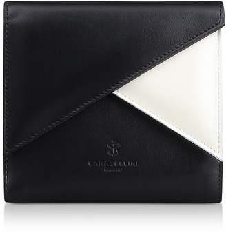 Lara Bellini Two Tone Leather Squared Vela Wallet