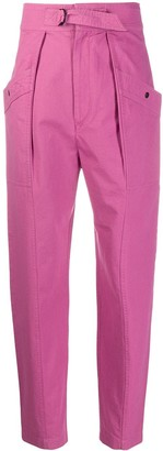 Etoile Isabel Marant High-Rise Belted Trousers