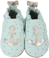 Robeez Light Blue Anchors Aweigh Leather Bootie