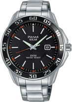 Pulsar Mens Silver Tone Bracelet Watch-Px3121