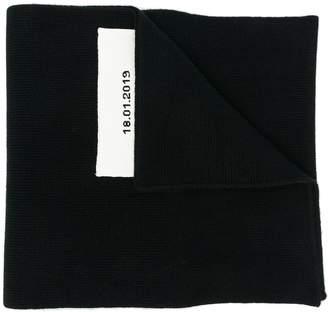 Jil Sander logo box scarf
