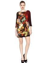 Just Cavalli Printed Stretch Crepe Dress