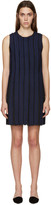 Proenza Schouler Black & Navy Pleated Shift Dress