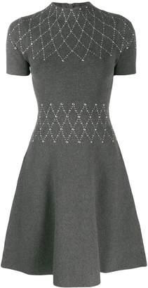 Sandro Paris short stud-embellished dress
