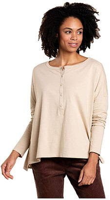 Toad&Co Primo Henley Long Sleeve (Chai) Women's Clothing