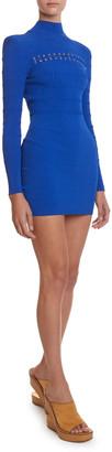 Balmain Lace-Up Jersey Dress