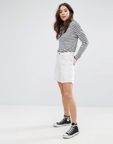 French Connection Linen High Rise Denim Shorts