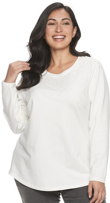 Croft & Barrow Plus Size French Terry Sweatshirt
