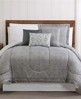 Pem America Calista 12-Pc. Medallion-Print Queen Comforter Set Bedding