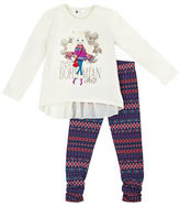 Petit Lem Girls 2-6x Bohemian Princess 2 Piece Tunic and Leggings Set