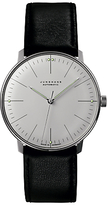 Junghans 027/3501.00 Max Bill Automatic Leather Strap Watch, Black/white