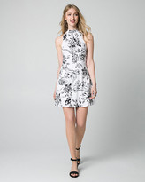 Le Château Floral Print Jersey Mock Neck Mini Dress