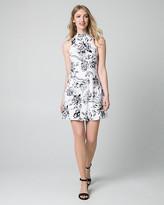 Le Château Floral Print Jersey Mock Neck Mini Dress