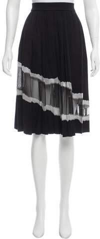 Maison Margiela Wool-Blend Pleated Skirt w/ Tags