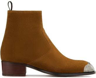 Giuseppe Zanotti Contrast Toe Cap Ankle Boots