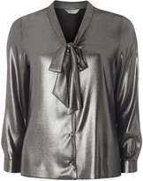 Dorothy Perkins Petite Silver Pussybow Blouse