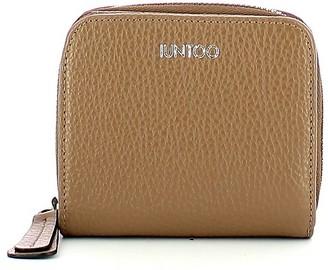 Iuntoo Beige Leather Armonia Zip Around Small Women's Wallet