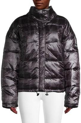 NVLT Plaid-Print Puffer Jacket