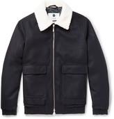 Nn07 - Seton Faux Shearling-trimmed Wool-blend Bomber Jacket