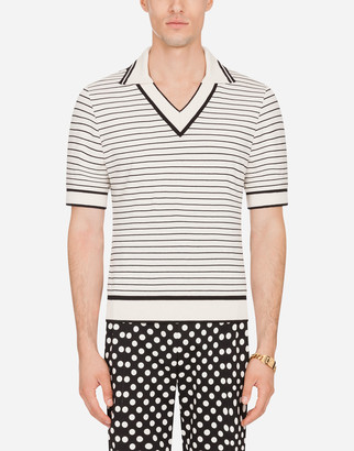 Dolce & Gabbana Striped Cotton Polo Shirt
