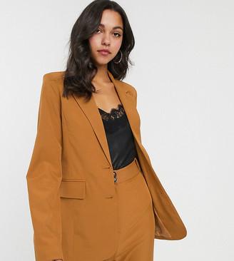 Fashion Union Tall blazer in tan co-ord