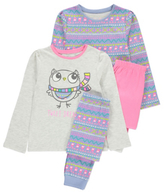 George 2 Pack Assorted Bird Print Pyjamas