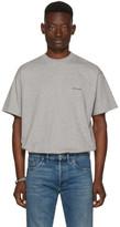 Balenciaga Grey Oversized Logo T-Shirt