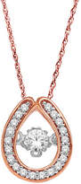 Fine Jewelry Love in Motion 1/5 CT. T.W. Diamond 10K Teardrop Pendant Necklace No Color Family