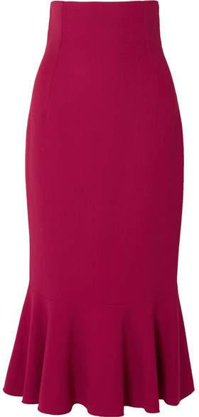 Dolce & Gabbana Fluted Cady Midi Skirt - Pink