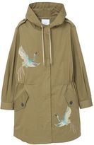 MANGO Embroidered Cotton Parka