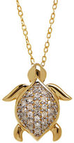 Lord & Taylor Diamond and 14K Yellow Gold Turtle Pendant Necklace