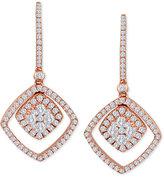 LeVian Le Vian® Vanilla® Diamond Drop Earrings (9/10 ct. t.w.) in 14k Rose Gold