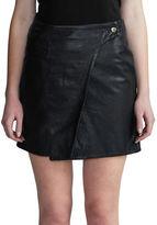DAY Birger et Mikkelsen Solid Leather Wrap Skirt