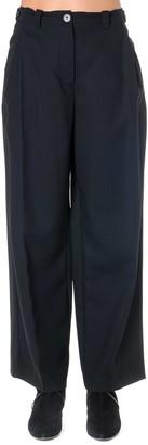 McQ Black Large Cotton & Wool Pants