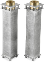 N. Tall Square Candle Holders, Set of 2