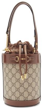 Gucci 1955 Horsebit Gg Supreme Bucket Bag - Tan Multi