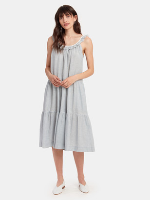 The Great The Magnolia Tiered Midi Dress