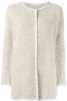 Fabiana Filippi round neck cardi-coat - women - Cotton/Polyamide - 44