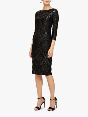 Phase Eight Petra Burnout Dress, Black