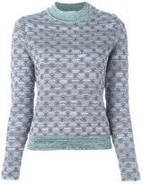 Carven 'Menthe' jumper - women - Cotton/Polyester/Viscose/Metallic Fibre - L