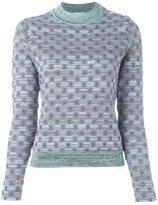 Carven 'Menthe' jumper - women - Cotton/Viscose/Polyester/Metallic Fibre - L