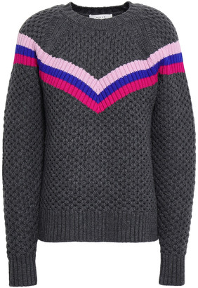 Milly Varsity Stripe Merino Wool Sweater